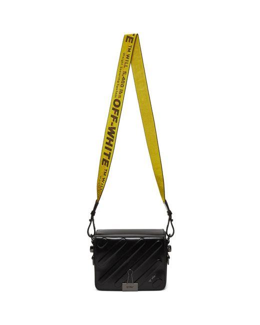Black Padded Diagonal Flap Bag Off-white ErDpe