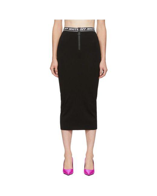 e9374de4cb Off-White c/o Virgil Abloh - Black Diagonal Simple Skirt - Lyst ...