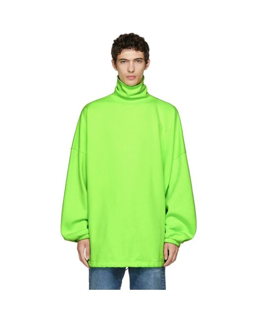 Balenciaga - Green Oversized Turtleneck for Men - Lyst