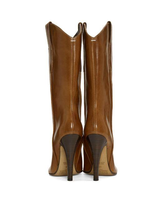 Discount 2018 New Clearance Cheapest Price Brown Tabi Cowboy Boots Maison Martin Margiela Cheap Sale Enjoy Huge Surprise Sale Online MMPSQ