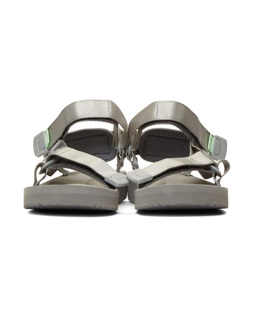 37feeea43a92 ... Suicoke - Gray Ssense Exclusive Grey Tonal Sole Depa-cab Sandals - Lyst  ...