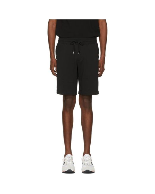 Moncler - Black Sweat Shorts for Men - Lyst