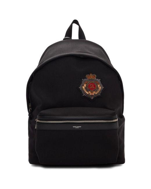 3dfc5e97f7 Lyst - Saint Laurent Black Kingdom City Backpack in Black for Men
