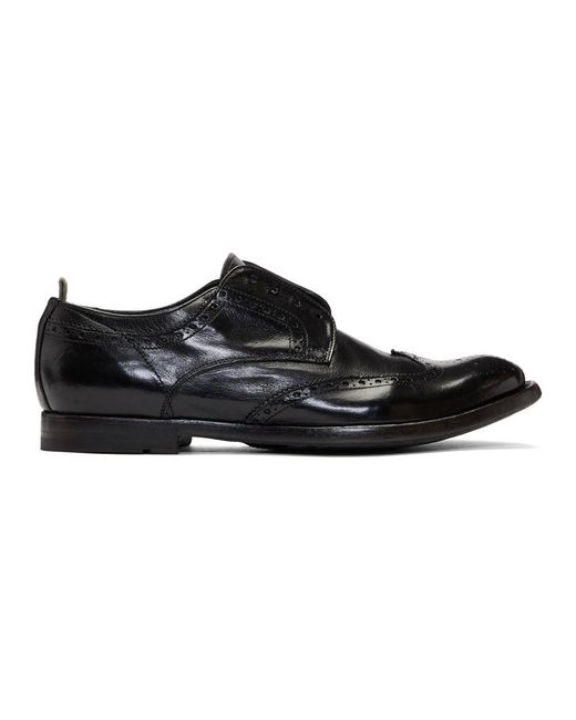 Officine Creative - Black Anatomia 3 Loafers for Men - Lyst