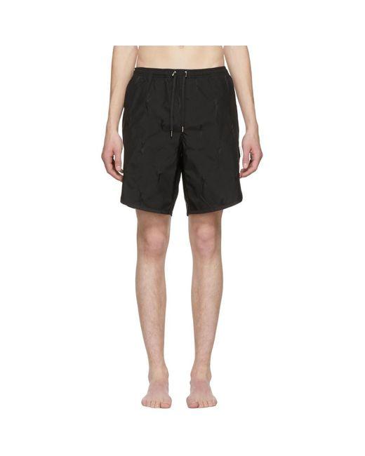 Neil Barrett - Black Thunderbolt Swim Shorts for Men - Lyst