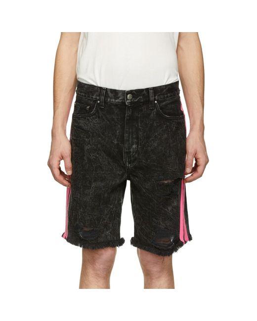 3af3682cda Amiri Acid-wash Denim Shorts in Black for Men - Save 38% - Lyst