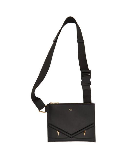 Sac messager mince noir Bag Bugs Fendi pour homme en coloris Black