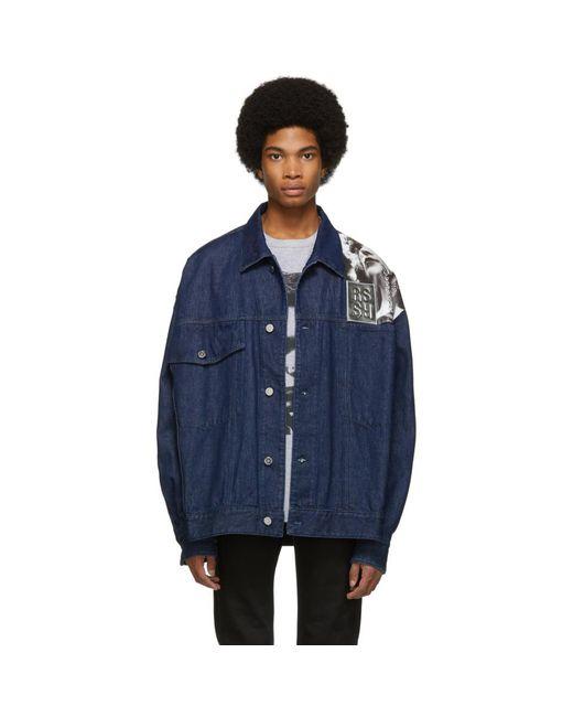 d01f5318895 Raf Simons Punkette Oversized Denim Jacket in Blue for Men - Save 54 ...