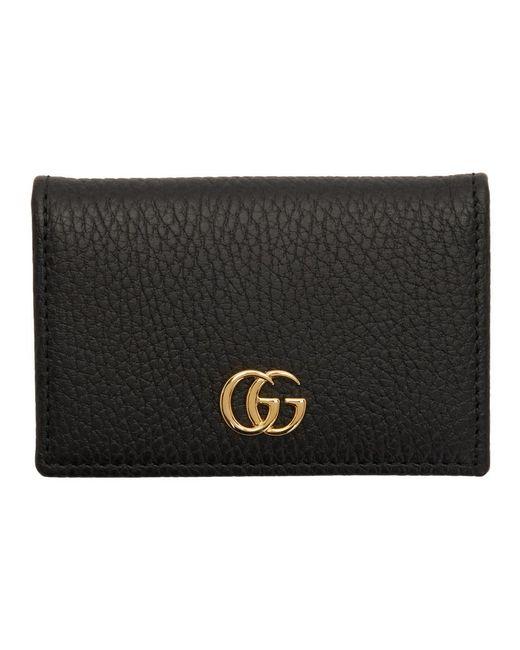 62e880304 Lyst - Gucci Black GG Marmont Card Holder in Black