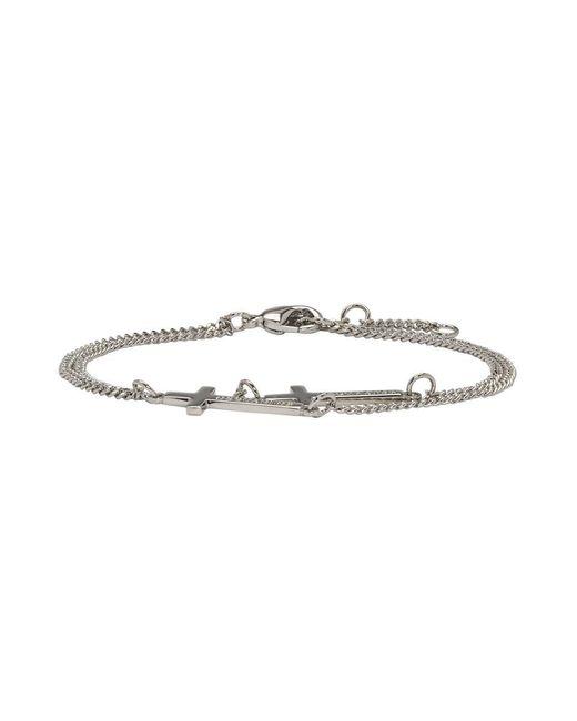 DSquared² - Metallic Silver Double Cross Bracelet - Lyst