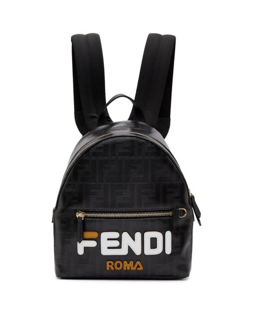 Fendi - White Black Small Mania Backpack - Lyst