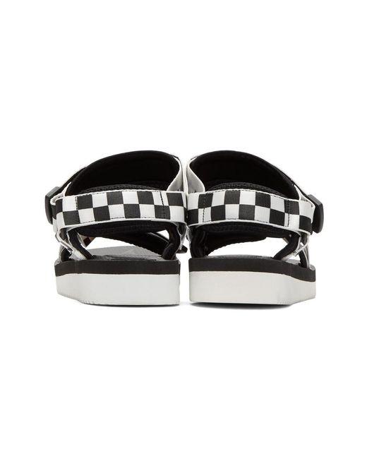 2cd05ece4f2b ... Suicoke - Black And White Depa-v2 Sandals for Men - Lyst ...