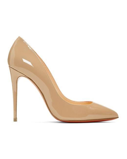 d92e1618a1 Christian Louboutin - Natural Pink Patent Pigalles Follies Heels - Lyst ...