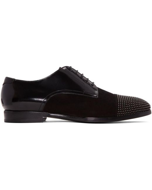 Jimmy Choo | Black Penn Derbys for Men | Lyst