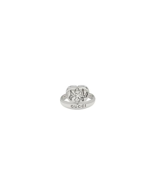 36ed4911f ... Gucci - Metallic Silver Blind For Love Heart Ring - Lyst ...
