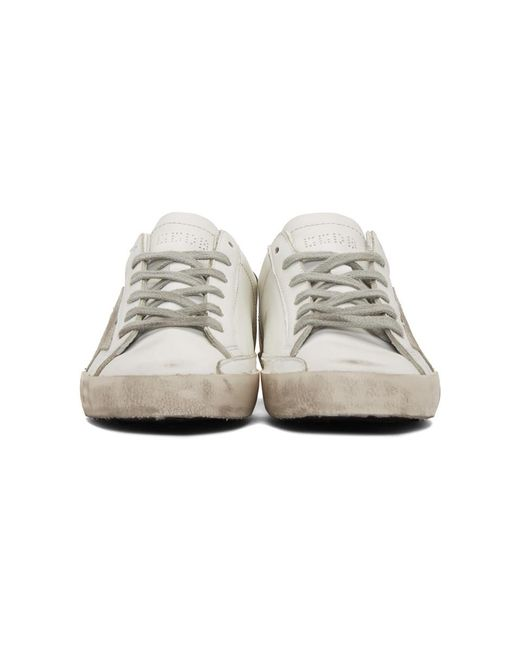 99799f18fa7 ... Golden Goose Deluxe Brand - White And Silver Superstar Sneakers - Lyst  ...