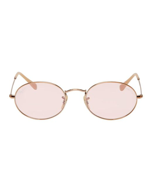 Ray-Ban Multicolor Pink Oval Evolve Sunglasses for men