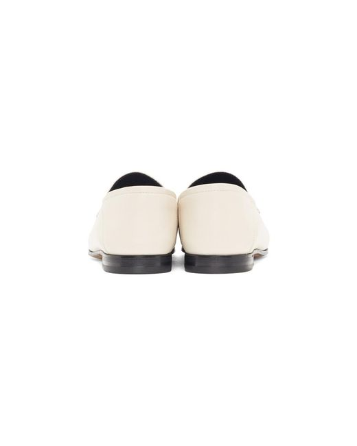 81ebec425d1 Gucci White Horsebit Loafers in White - Save 15% - Lyst