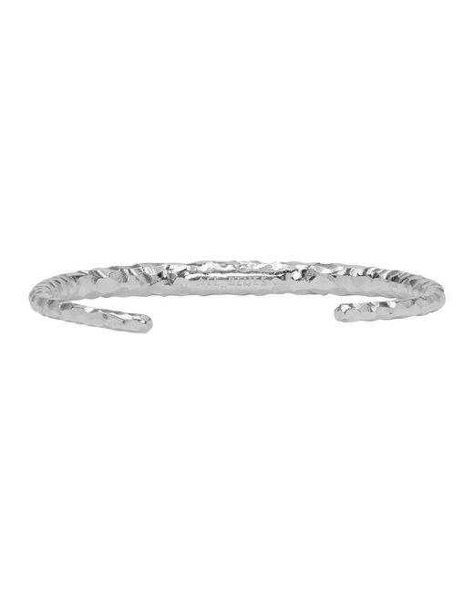 All_blues - Metallic Silver Fat Snake Bracelet for Men - Lyst