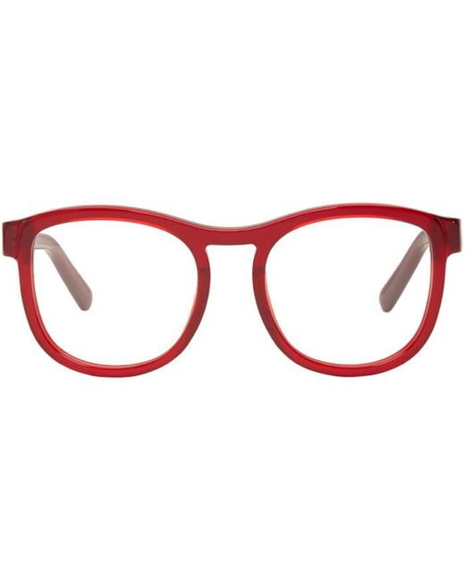 Chloé | Red Round Glasses | Lyst