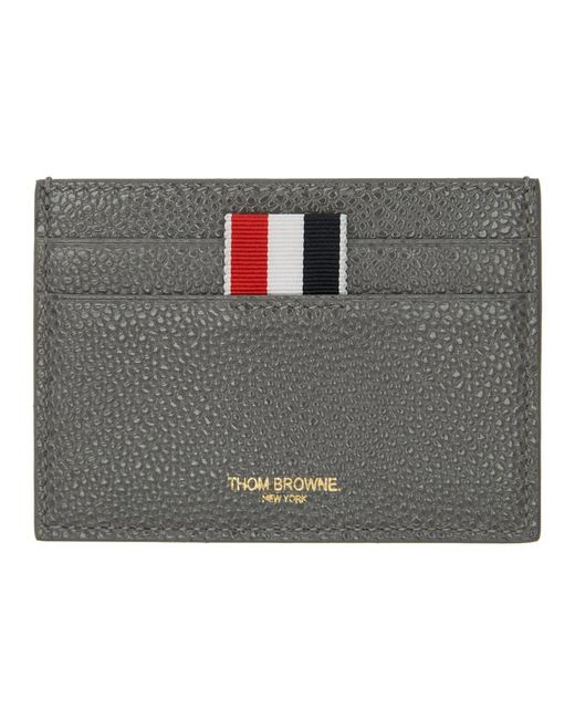 Thom Browne - Gray Ssense Exclusive Grey Single Card Holder - Lyst