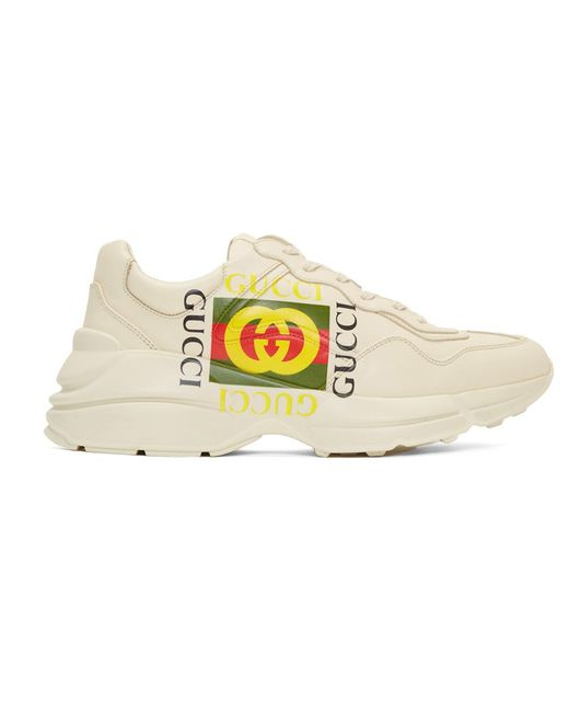 Gucci - Off-white Cube Rhyton Sneakers for Men - Lyst