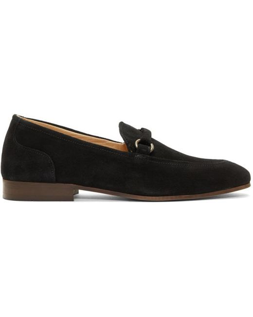H by Hudson | Black Suede Renzo Loafers for Men | Lyst