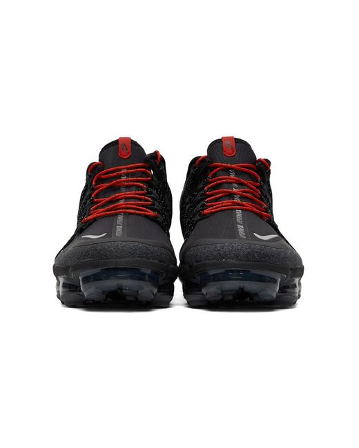3f721858f053 ... coupon code for nike black and red air vapormax run utility sneakers  for men lyst e4114