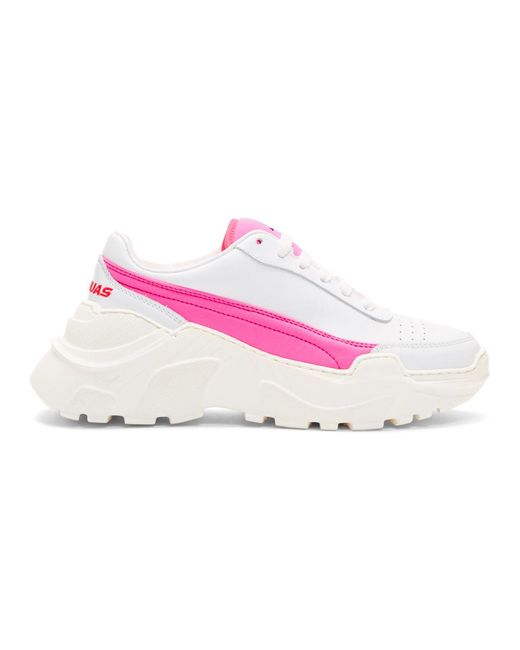 Joshua Sanders - Ssense Exclusive White And Pink Zenith Sneakers - Lyst