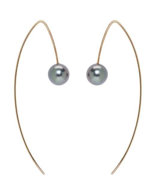 Pearls Before Swine | Metallic Gold Tahitian Pearl Earrings | Lyst