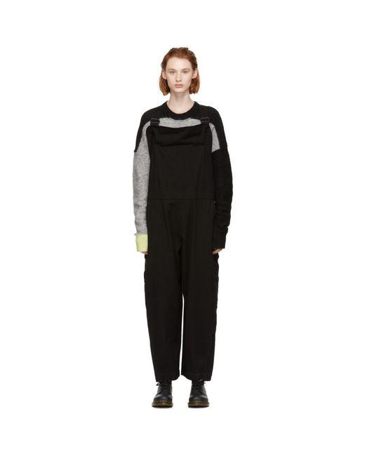 Y's Yohji Yamamoto - Black U-salopette Jumpsuit - Lyst