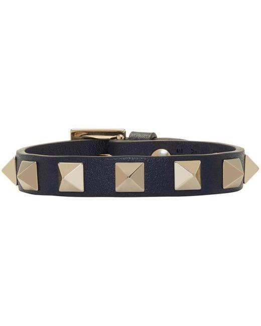 Valentino   Black Garavani Rockstud Bracelet   Lyst