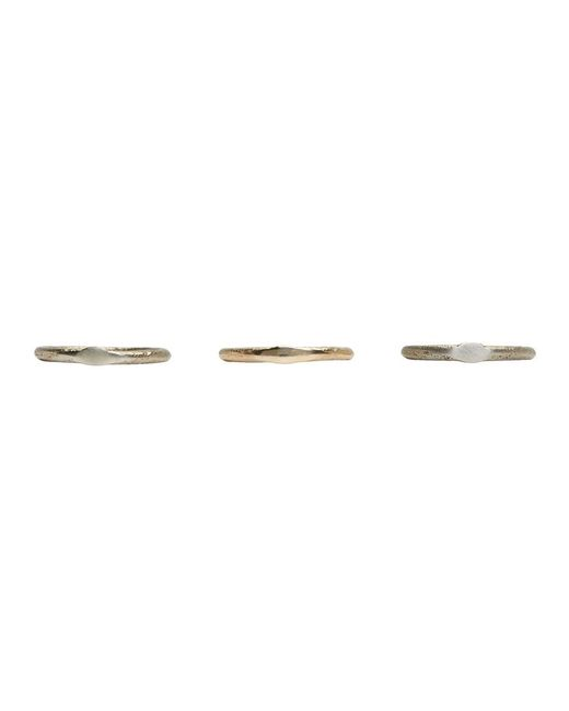 Pearls Before Swine - Metallic Ssense Exclusive Silver And Gold Set Of Three Sliced Band Rings for Men - Lyst