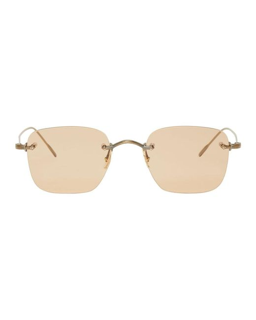 Oliver Peoples - Brown Finne Sunglasses for Men - Lyst