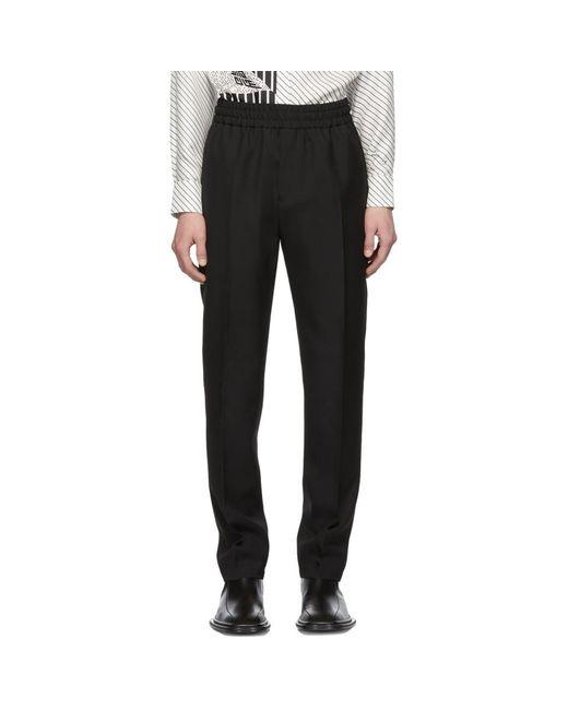 Givenchy - Black ブラック ウール バーティカル ロゴ ジョガー トラウザーズ for Men - Lyst