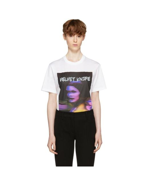 Prada | White 'velvet Knife' Poster T-shirt for Men | Lyst