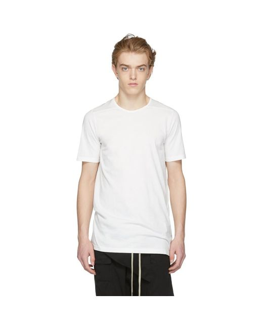 Beige Text Patch Level T-Shirt Rick Owens Cheap Websites Cheap Sale Cheapest Price Factory Sale Cheap Sale Good Selling In China tdCs3