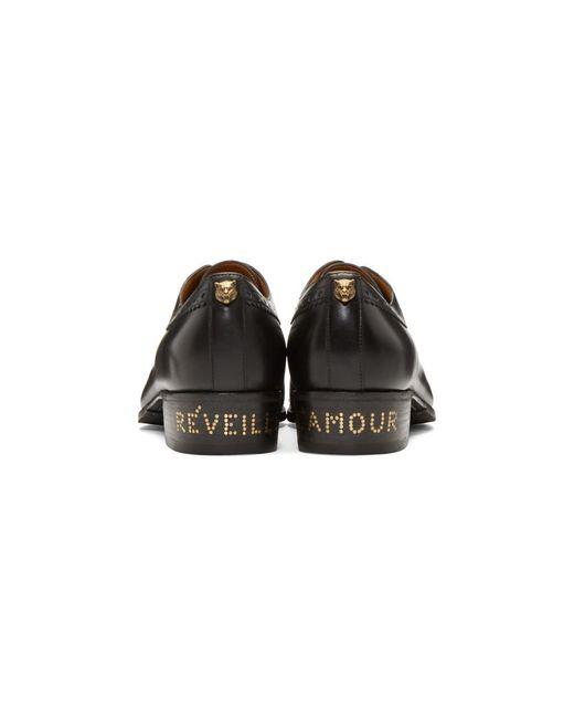 f34750da9 ... Gucci - Black Thune Brogues for Men - Lyst ...