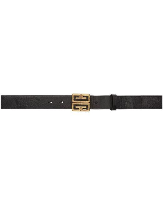 6fbb1fee495 Lyst - Ceinture noire Engraved 4G Givenchy pour homme en coloris Noir
