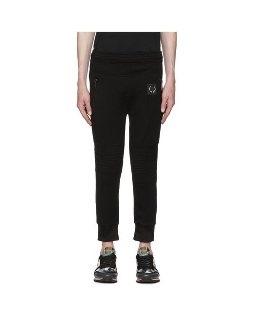 Neil Barrett - Black Travel Pierced Lounge Pants for Men - Lyst