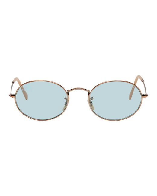Ray-Ban - Multicolor Copper And Blue Oval Evolve Sunglasses for Men - Lyst