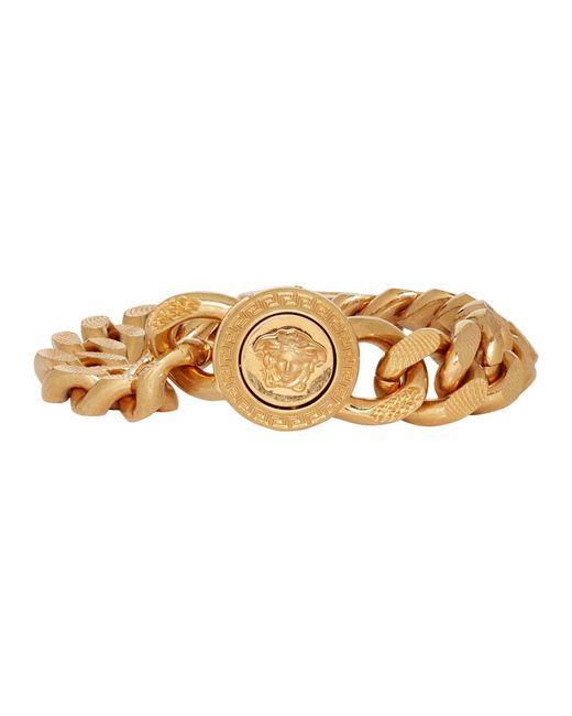 Bracelet dore Large Chain Medusa Versace pour homme en coloris Metallic