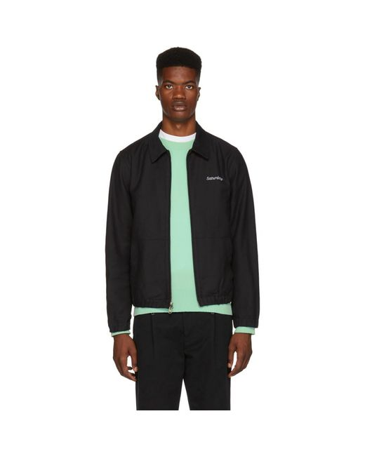 Saturdays NYC - Black Harrison Jacket for Men - Lyst