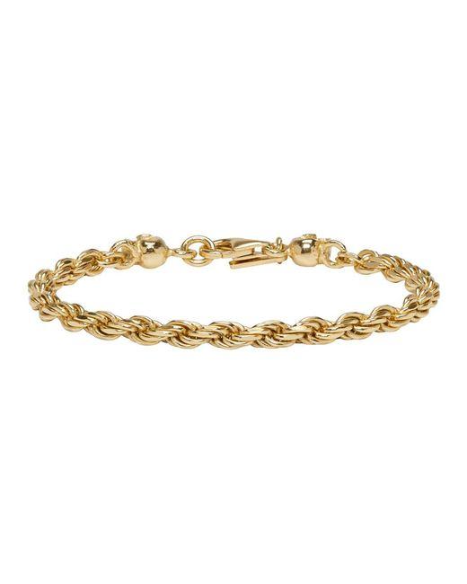 Emanuele Bicocchi - Metallic Ssense Exclusive Gold Birdcage Skull Bracelet - Lyst