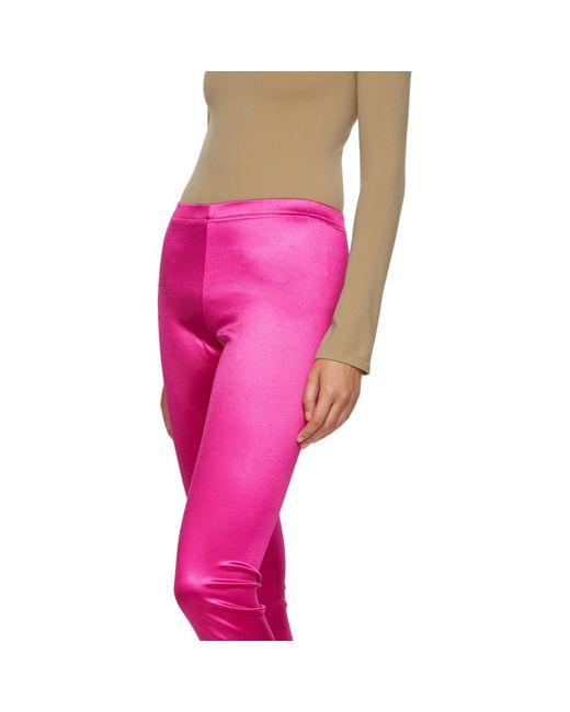 337b8f007c80f ... Junya Watanabe - Pink Satin Leggings - Lyst ...