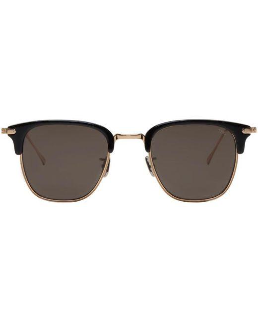 Eyevan 7285 | Metallic Gold & Black Model 736 Sunglasses | Lyst