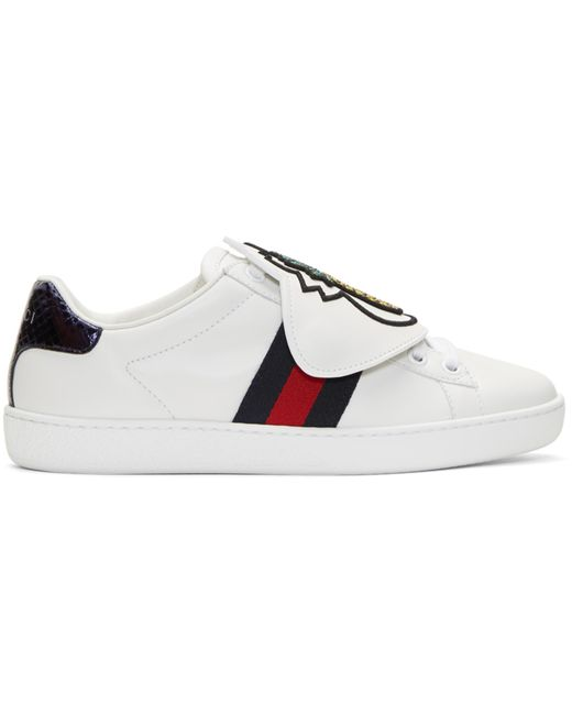 Gucci | White Pineapple Ace Sneakers | Lyst