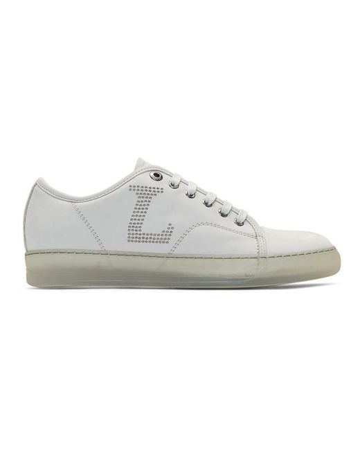 Lanvin - Off-white Perforated Sneakers for Men - Lyst