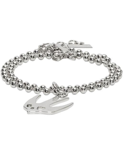 McQ Alexander McQueen   Metallic Silver Swallow Bracelet   Lyst