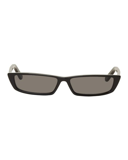 Balenciaga - Black Thin Rectangular Sunglasses - Lyst